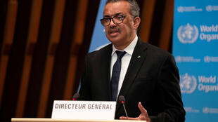 Tedros Adhanom Ghebreyesus, Director General of the World Health Organization (WHO), speaks in Geneva, Switzerland, January 18, 2021.