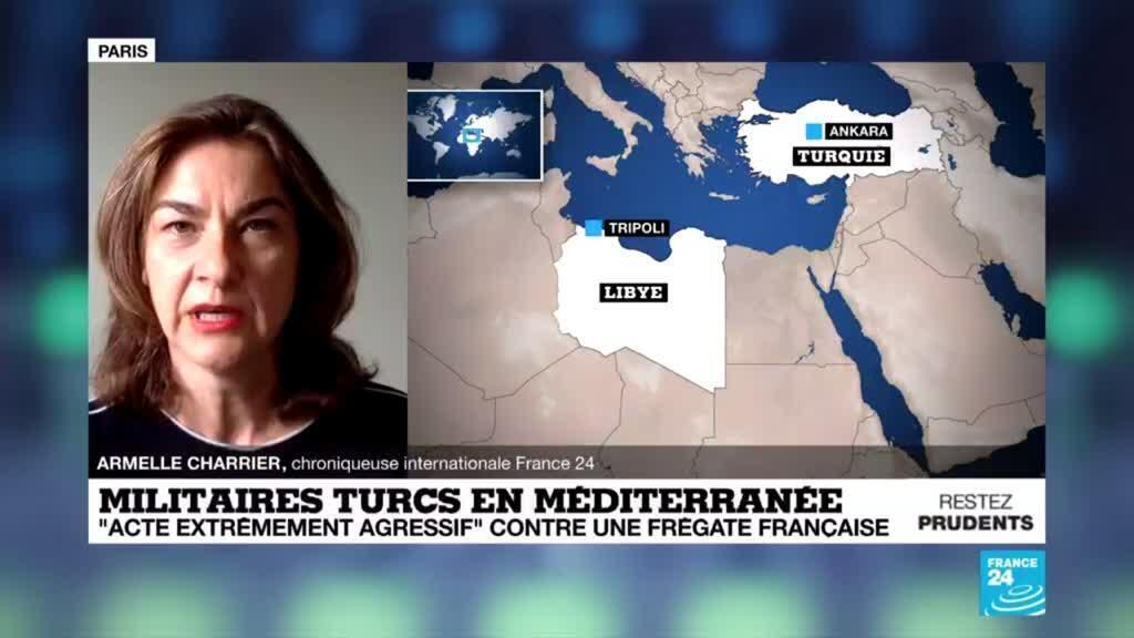 """2020-06-18 09:22 La France dénonce une manoeuvre """"extrêmement agressive"""" de la Turquie contre l'une de ses frégates"""