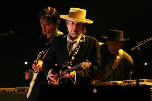 Bob Dylan performing in London, June 18, 2011.