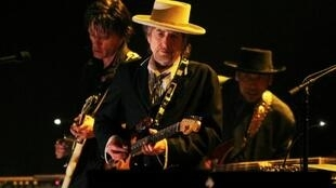 Bob Dylan performing in London, June 18, 2011.