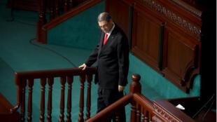 Le Premier ministre tunisien Habib Essid, le 30 juillet 2016 au Parlement à Tunis.