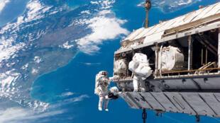 Construction de la Station spatiale internationale (ISS) en 2006.
