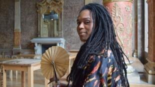"""Erica Malunguinho, de paso en París para los encuentros """"Afrocyberfeminismos', organizados por la Gaîté Lyrique, el 14 de junio de 2019."""