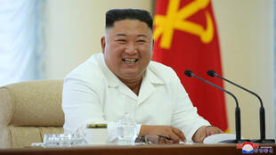 North Korean leader Kim Jong Un takes part in the 13th Political Bureau meeting of the 7th Central Committee of the Workers' Party of Korea (WPK) in this image released June 7, 2020 by North Korea's Korean Central News Agency (KCNA).