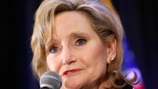 La républicaine Cindy Hyde-Smith durant un meeting à Jackson (Mississippi), le 27novembre2018.