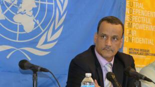 Ismaïl Ould Cheikh Ahmed a prononcé un discours en janvier 2015 au Liberia, dans le cadre de sa mission de lutte contre l'épidémie d'Ebola.