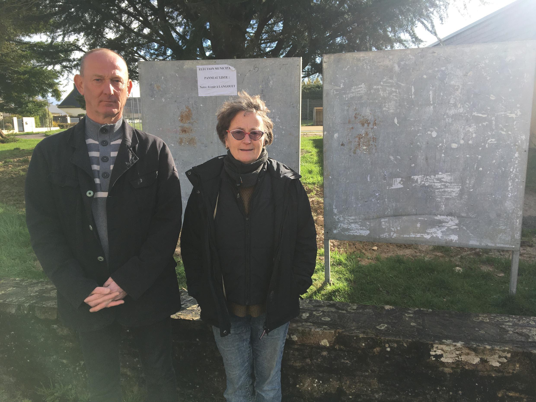 À Langouët, Jean-Pierre Méar et Nicole Duperron, sont tous deux candidats sur la liste Désir d'Avenir, après le retrait du maire Daniel Cueff.