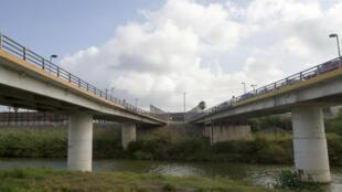 Le Rio Grande, frontière naturelle entre Matamoros, au Mexique, et Brownsville, au Texas.