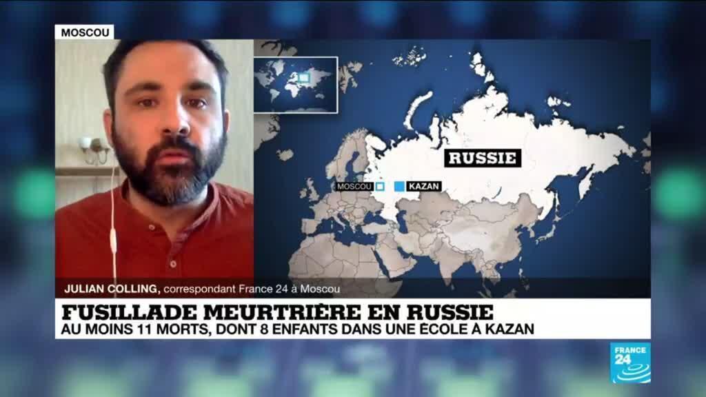 2021-05-11 11:07 Fusillade meurtrière en Russie : au moins 11 morts, dont 8 enfants dans une école de Kazan