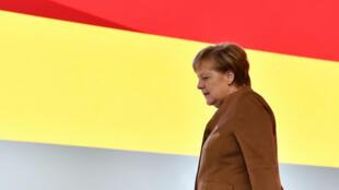 La chancelière allemande, Angela Merkel, lors du Congrès de la CDU à Hamburg, le 6 décembre 2018.