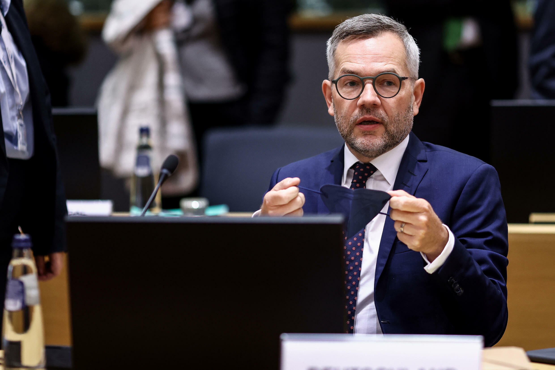 El ministro de Asuntos europeos de Alemania, Michael Roth, el 21 de septiembre de 2021 en una reunión en Bruselas