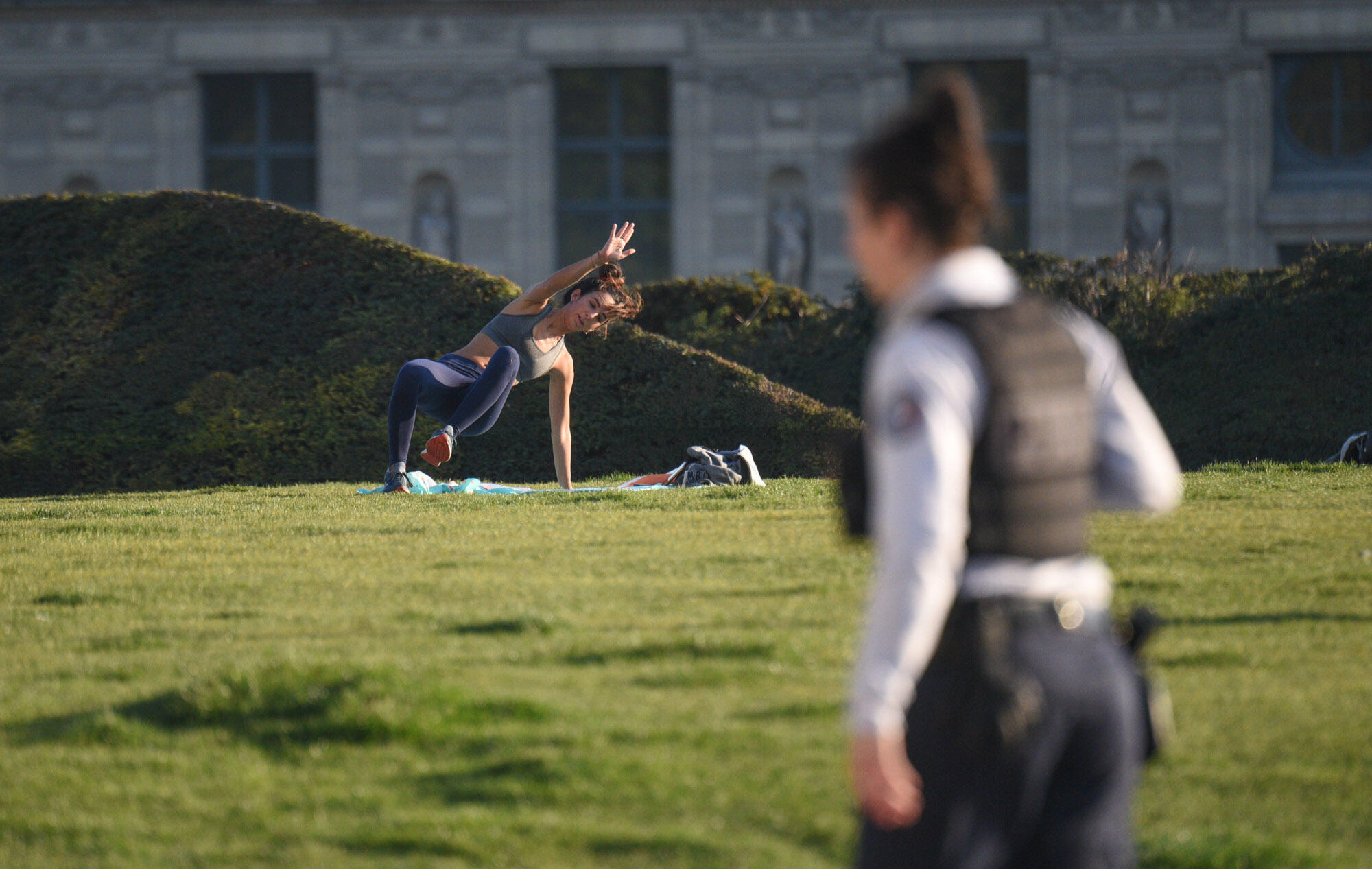 The French lockdown is not as tight as those in Italy or Spain. For example, people are allowed to go out for one hour of physical activity as long as they remain within one kilometre of their homes.