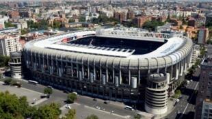Le stade Santiago-Bernabeu de Madrid qui accueillera la finale de la Copa Libertadores dimanche le 9 décembre 2018