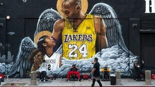 Hommage à Kobe Bryant à Los Angeles.