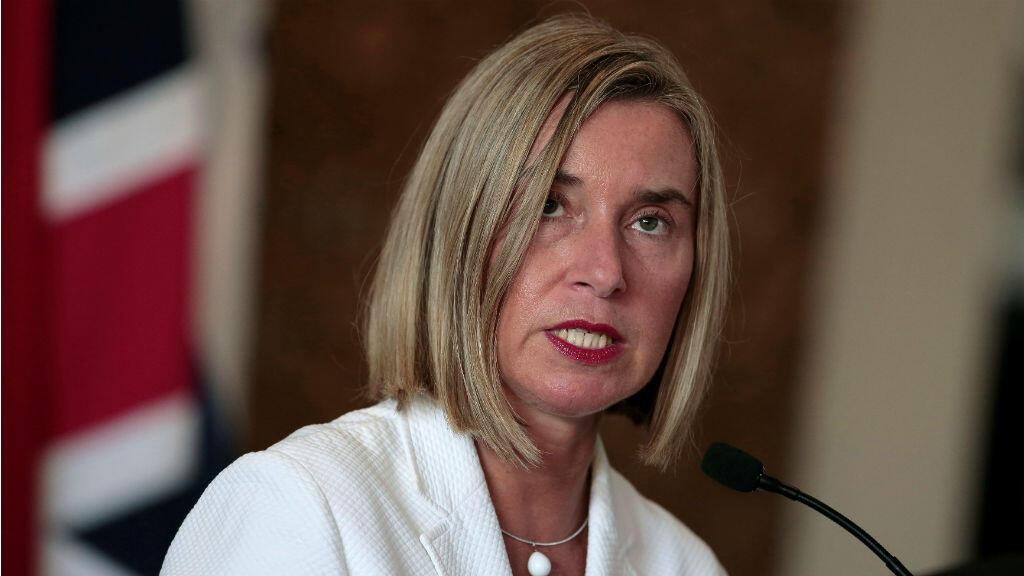 La Alta Representante de la Unión Europea para Asuntos Exteriores y Política de Seguridad, Federica Mogherini, en SAn José de Costa Rica.