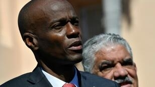 Haitain President Jovenel Moïse (pictured March 2019) denied allegations he was at the center of an embezzlement scheme that siphoned off Venezuelan aid money intended for road repairs