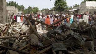 Une précédente attaque de Boko Haram à proximité d'une mosquée de Maiduguri au Nigeria, le 17 juillet 2017.