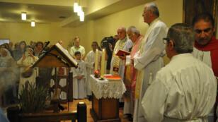 Messe pour les chrétiens d'Orient, à Notre-Dame de Chaldée, à Paris, dimanche 10 août.