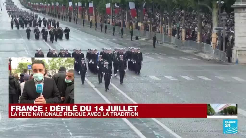 2021-07-14 11:01 14 juillet en France : les militaires défilent sur l'avenue des Champs-Élysées