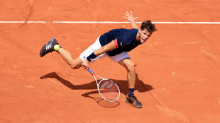 Dominic Thiem, bousculé mais finaliste de l'édition 2018 de Roland-Garros.