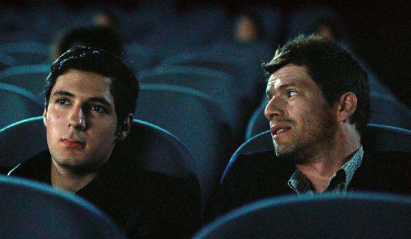 "Vincent Lacoste (left) and Pierre Deladonchamps in Christophe Honoré's ""Sorry Angel""."