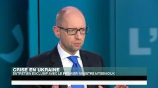 Le Premier ministre ukrainien sur France 24, le 13 mai 2015