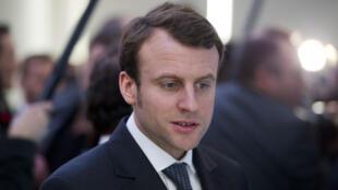 Le ministre français de l'Économie, Emmanuel Macron.