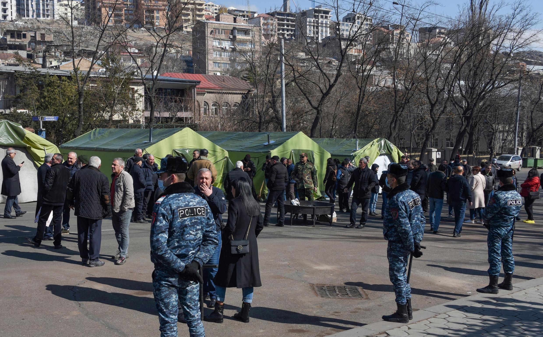 Yerevan opposition tents