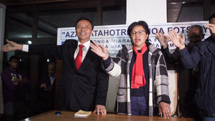 L'ancien président malgache Marc Ravalomanana et son épouse Lalao, le vendredi 31 juillet, à Antananarivo.