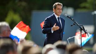 Nicolas Sarkozy lors d'un discours à La Baule, le 5 septembre 2015