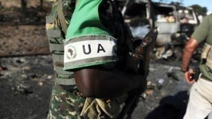 Un soldat de l'Union africaine à Mogadiscio, en Somalie.