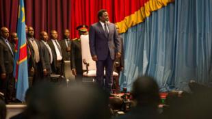 Joseph Kabila lors de son allocution le 19 juillet à Kinshasa.