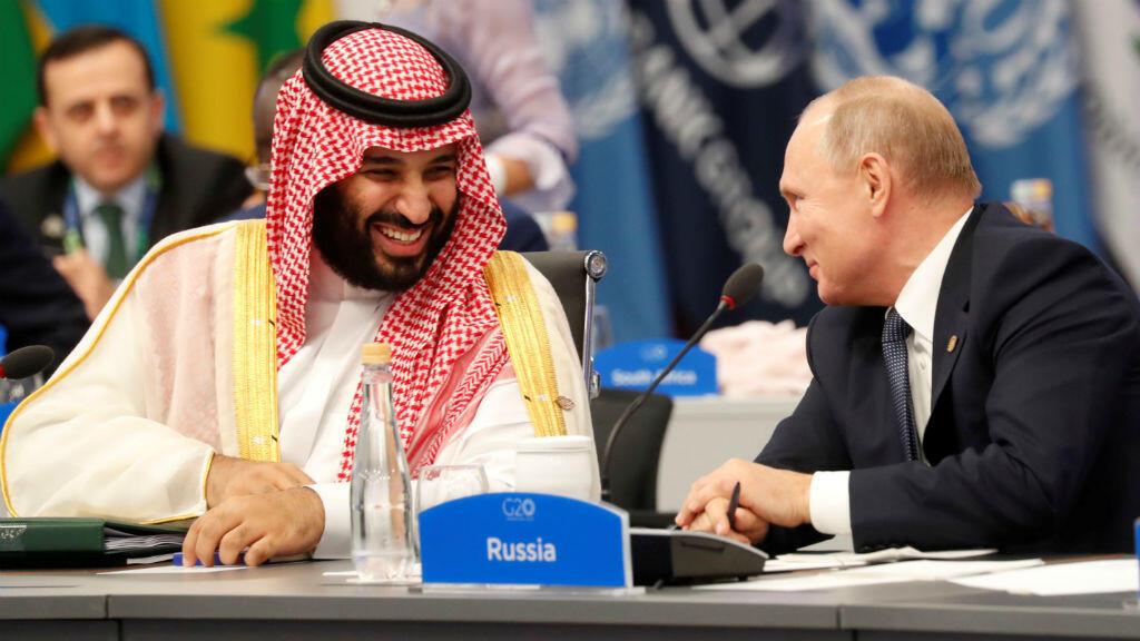 Le prince héritier du trône saoudien, Mohammed ben Salmane, et Vladimir POutine au G20 de Buenos Aires le 30 novembre.