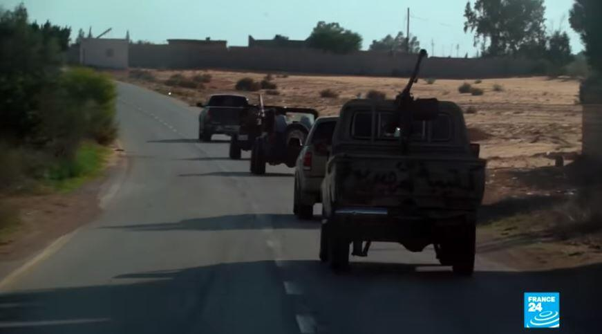 FRANCE 24 brings you to the front lines of the armed conflict in Libya.
