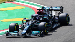 Lewis Hamilton will start from the front of the grid at Imola