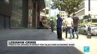2020-07-23 10:10 French FM in Beirut for talks over economic crisis