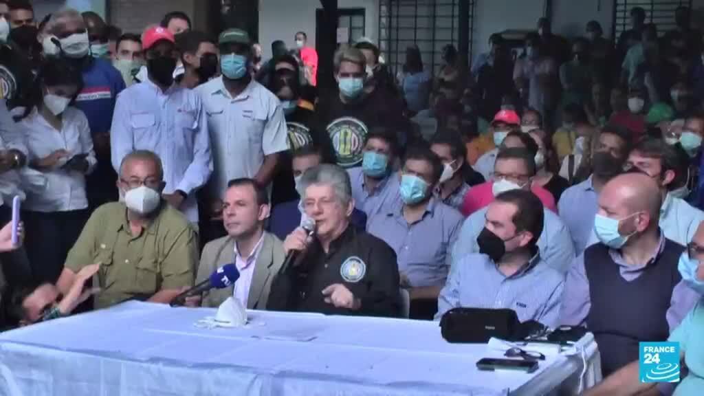 2021-09-01 13:37 Oposición venezolana anunció que presentarán candidatos en los comicios del 21 de noviembre