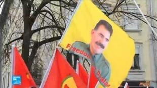 مظاهرات في ستراسبورغ للمطالبة بالإفراج عن الزعيم الكردي عبدالله أوجلان