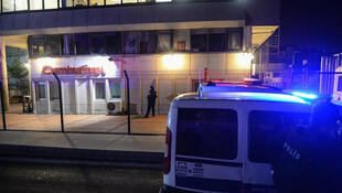 Extreme security measures were taken in the surroundings of the daily Cumhuriyet office in Istanbul overnight