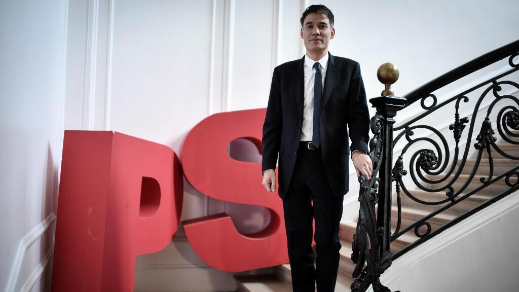 Olivier Faure, vendredi 16 mars 2018, au siège du Parti socialiste à Paris.