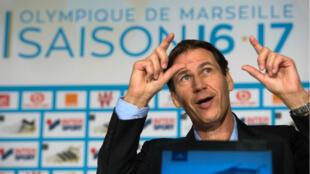 Rudi Garcia, l'ancien entraîneur de Lille et de l'AS Roma a pris les rênes de l'OM.