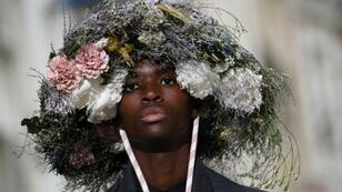 At the Paris men's fashion show, designers festooned their collections with flowers