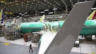 Un Boeing 737 MAX à l'usine de Renton, le 27 mars 2020