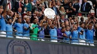 مانشستر سيتي فاز باللقب للمرة الثانية على التوالي. 4 أغسطس/آب 2019.