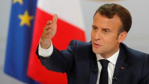 En la tarde del jueves 25 de abril de 2019, el presidente Emmanuel Macron expuso las conclusiones del Gran Debate desarrollado para responder a los 'Chalecos amarillos'.