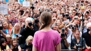 La activista ambiental sueca Greta Thunberg en la protesta 'Fridays for Future', reclamando medidas urgentes para combatir el cambio climático, en Berlín, Alemania, el 19 de julio de 2019.