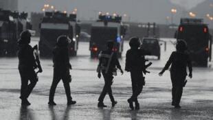 Images d'archive de policiers saoudiens, à La Mecque.