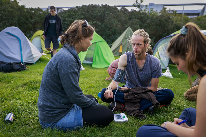 Les militants du climat veulent rencontrer les candidats à la chancelière, le conservateur Armin Laschet, le social-démocrate Olaf Scholz et les Verts Annalena Baerbock