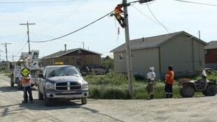 La petite communauté d'Attawapiskat, dans l'Ontario, en juillet 2009.