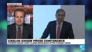 2020-01-08 22:37 Carlos Ghosn press conference : he claims innocence after fleeing Japan